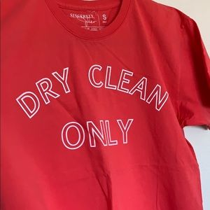 Dry clean only graphic tee